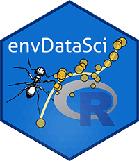 envDataSci logo with ant and R